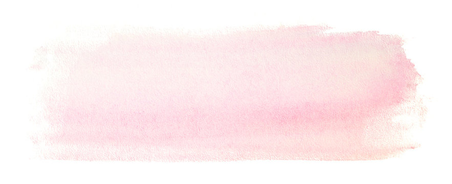 Light pink watercolor stain. on a white background with a soft transition. rectangular banner