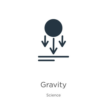 Gravity icon vector. Trendy flat gravity icon from science collection isolated on white background. Vector illustration can be used for web and mobile graphic design, logo, eps10