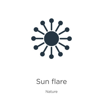 Sun flare icon vector. Trendy flat sun flare icon from nature collection isolated on white background. Vector illustration can be used for web and mobile graphic design, logo, eps10