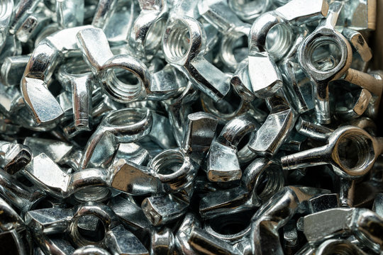Stainless wing nut used in carpentry and handicrafts for industrial and household.