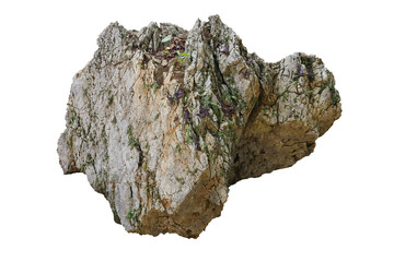 Wall Mural - rock isolated on white background