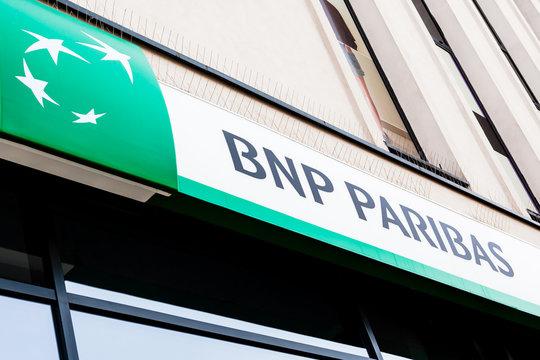 BNP Paribas S.A. brand logo in Bialystok, Poland