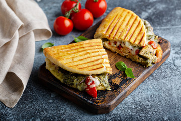 Chicken tomato pesto panini