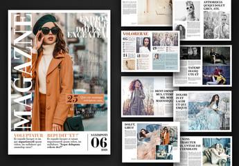 Fashion Magazine Layout