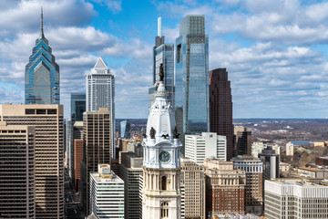 Philadelphia city skyline Fotomurales