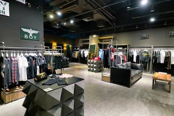 SHENZHEN, CHINA - CIRCA APRIL, 2019: interior shot of a BOY retail store at a shopping mall in Shenzhen.
