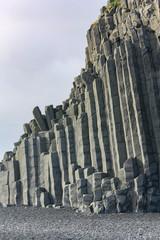 Basalt column formation in Iceland. Background