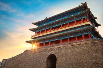 Qianmen or Zhengyangmen Gate at the Entrance of Tiananmen Square in beijing, China