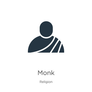Monk icon vector. Trendy flat monk icon from religion collection isolated on white background. Vector illustration can be used for web and mobile graphic design, logo, eps10