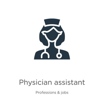 Physician assistant icon vector. Trendy flat physician assistant icon from professions collection isolated on white background. Vector illustration can be used for web and mobile graphic design, logo,