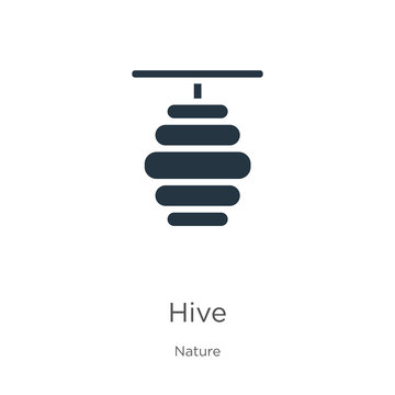 Hive icon vector. Trendy flat hive icon from nature collection isolated on white background. Vector illustration can be used for web and mobile graphic design, logo, eps10