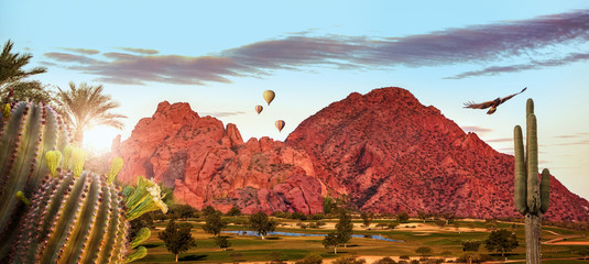 Phoenix Arizona Travel Scene Web Banner