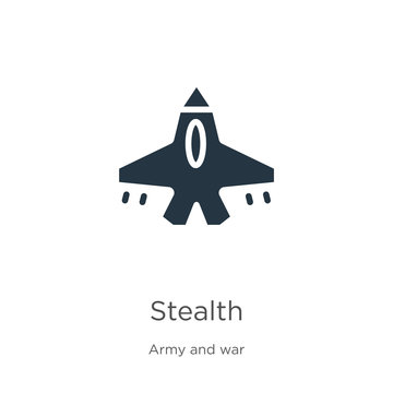 Stealth icon vector. Trendy flat stealth icon from army and war collection isolated on white background. Vector illustration can be used for web and mobile graphic design, logo, eps10