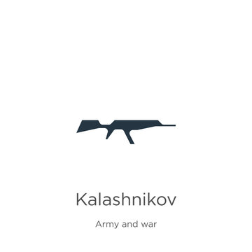 Kalashnikov icon vector. Trendy flat kalashnikov icon from army and war collection isolated on white background. Vector illustration can be used for web and mobile graphic design, logo, eps10