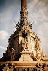 Columbus Monument (Monument a Colom), at the lower end of La Rambla, Barcelona, Spain