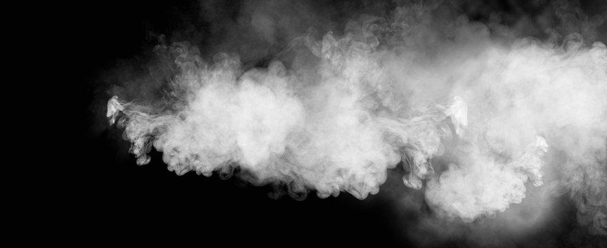 黒背景に煙のグラフィック素材