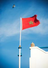 Flag of Morocco, Essaouira, Morocco