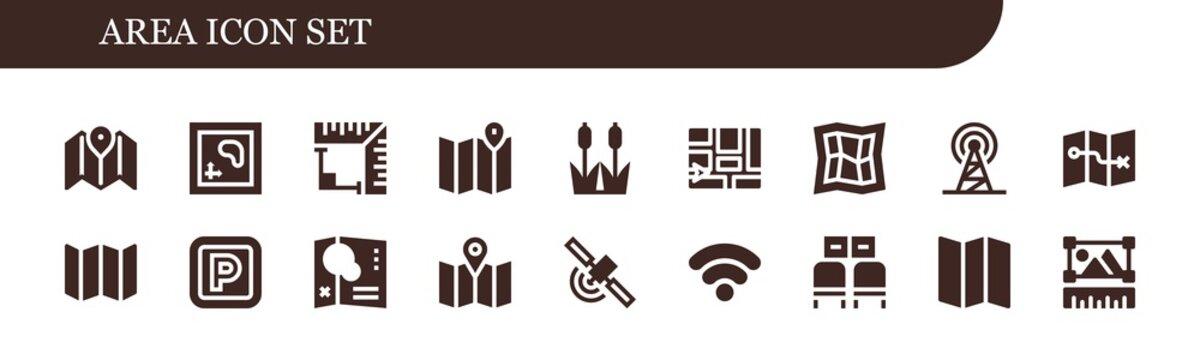 area icon set