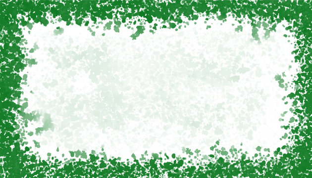 St. Patrick's Day WHite Background With  Green Splatter Boarder And Space For Image Or Text
