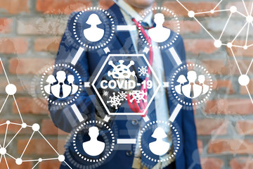 COVID-19 Business Medical Care Concept. Coronavirus Infection Biohazard Pandemic People Safety.