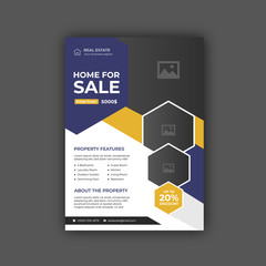 Real estate broker flyer and poster template. Flyer concept.Brochure template design. Concept of architecture design.