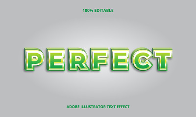 Fototapeta 3D Perfect Text, Editable Font effect obraz