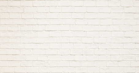 white paint simple brick wall for background texture design purpose