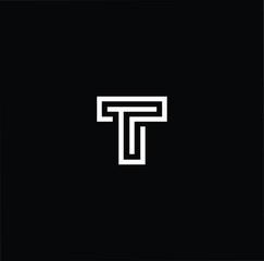 Initial based modern and minimal Logo. T TT letter trendy fonts monogram icon symbol. Universal professional elegant luxury alphabet vector design