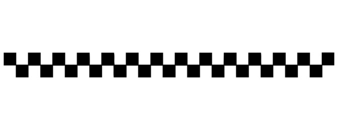 Black checkered pattern, taxi black and white checks for a taxi in isolate on a white background. Vector illustration.