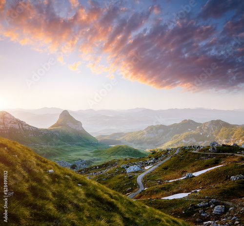 Wall mural Idyllic summer day in the Durmitor National park. Montenegro, Europe.
