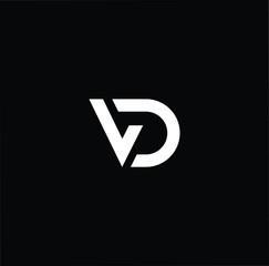 Initial based modern and minimal Logo. VD DV letter trendy fonts monogram icon symbol. Universal professional elegant luxury alphabet vector design
