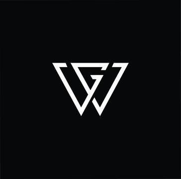 Initial based modern and minimal Logo. WG GW letter trendy fonts monogram icon symbol. Universal professional elegant luxury alphabet vector design
