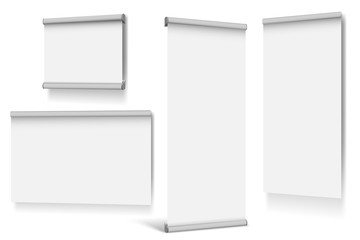 Set of roll up banners on white background Fotobehang