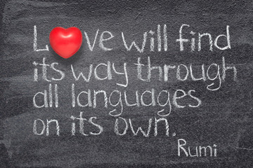 love will find Rumi Wall mural
