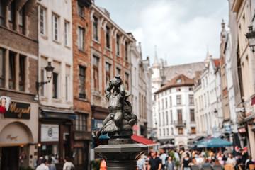 Fotobehang Madrid Brueghel Fountain in Bruxelles