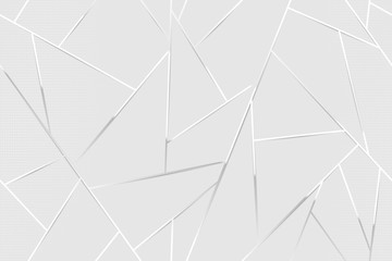 Abstract white chrome lines background
