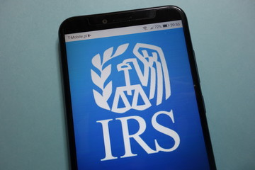 KONSKIE, POLAND - November 10, 2018: IRS (Internal Revenue Service) logo displayed on smartphone