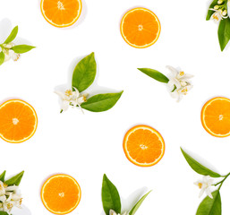 Wall Mural - Blossom and fruit of orange