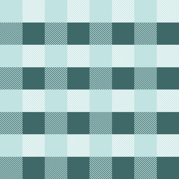 Checkered mint and pine green pattern coordinate