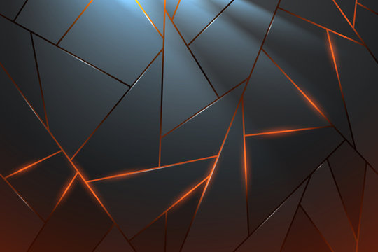 Abstract metal background with light effect