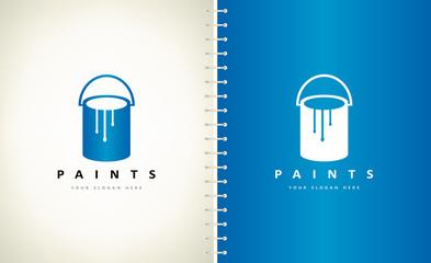 paint can logo vector design