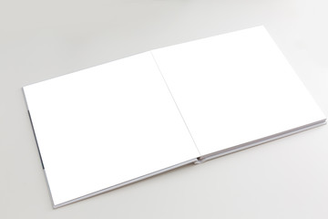 blank photo book white background,
