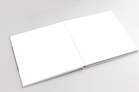 blank photo book white background,