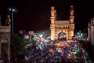 The Charminar is constructed in 1591 and it  is a monument and mosque located in Hyderabad, Telangana, India. Fototapete