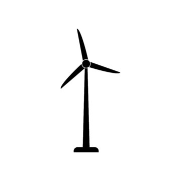 Wind turbine icon on white background