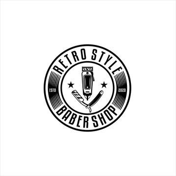 Barbershop vintage Logo design vector,  logo design inspiration