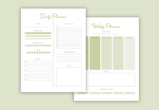 Green Planner Layout