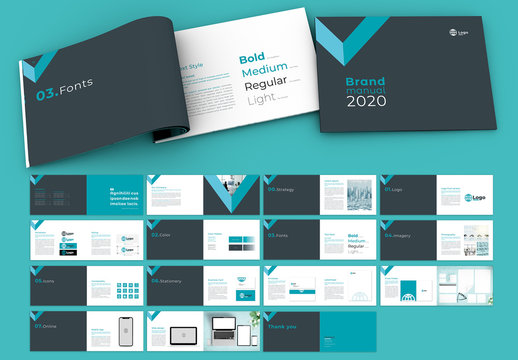 Green Triangle Style Brand Guidelines Layout