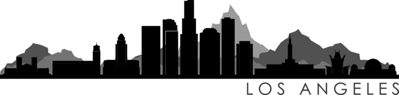 Los Angeles Skyline Silhouette Cityscape Vector