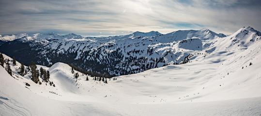 Fotobehang Alpen Planneralm skiing resort in winter, Austrian Alps